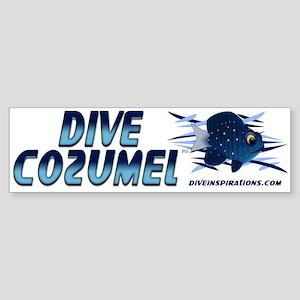 Dive Cozumel (blue) Bumper Sticker