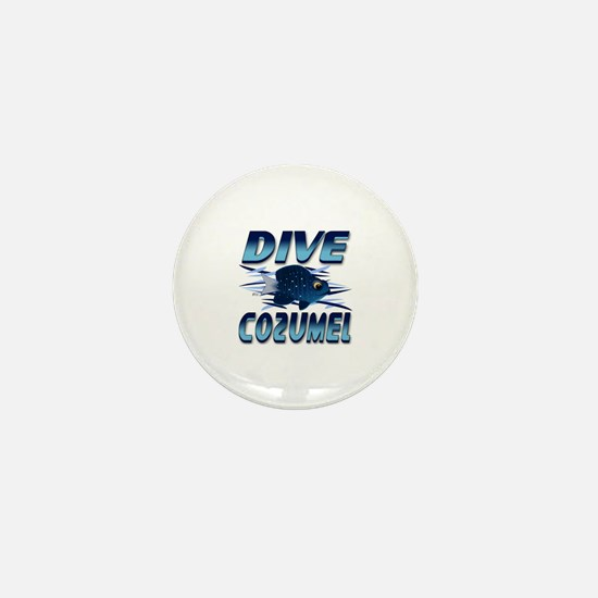 Dive Cozumel (blue) Mini Button