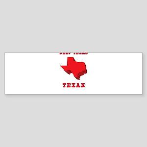 Keep Texas Texan Bumper Sticker