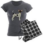 Toy Fox Terrier Women's Charcoal Pajamas