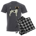 Toy Fox Terrier Men's Charcoal Pajamas