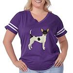 Toy Fox Terrier Women's Plus Size Football T-Shirt