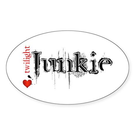 Twilight Junkie Oval Sticker