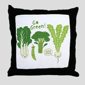 Go Green! Throw Pillow
