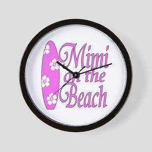 Mimi on the Beach Wall Clock
