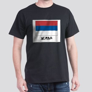 Serbia Flag Dark T-Shirt
