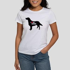 flatcoat love heart Women's T-Shirt