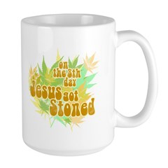 Jesus Got Stoned Large Mug