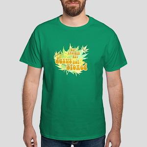 Jesus Got Stoned Dark T-Shirt