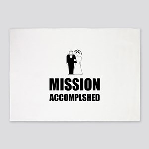 Mission Accomplished Wedding Bride Groom 5'x7'Area