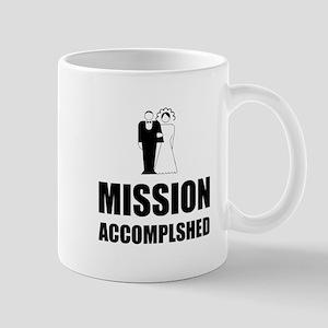 Mission Accomplished Wedding Bride Groom Mugs