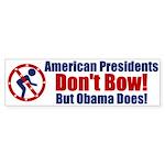 No Bow Bumper Sticker (50 pk)