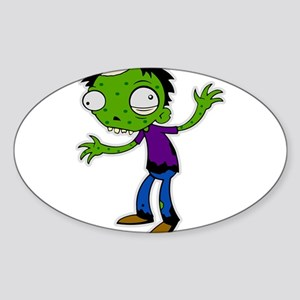 zombie kid Oval Sticker