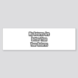 """Stock Market Success"" Bumper Sticker"