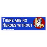 Hero-U No Heroes Bumper Sticker