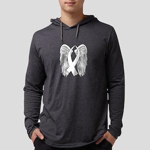 Winged Awareness Ribbon (White) Long Sleeve T-Shir