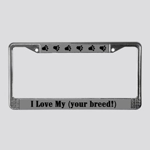 Customized Dog Breed License Plate Frame