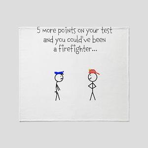 Firemen vs Cops Throw Blanket