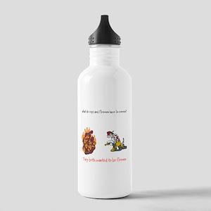 Firemen vs Cops Water Bottle