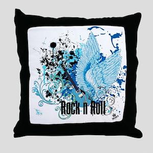 ROCK N ROLL Throw Pillow