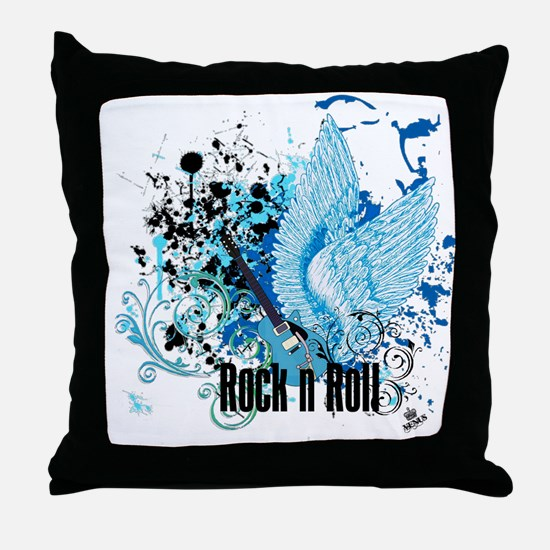 ROCK N ROLL Throw Pillow
