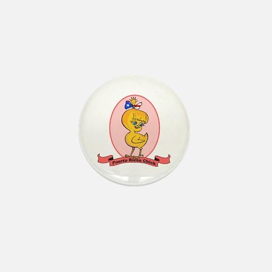 Puerto Rican Chick Mini Button