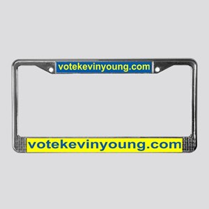 Vote Kevin Young License Plate Frame