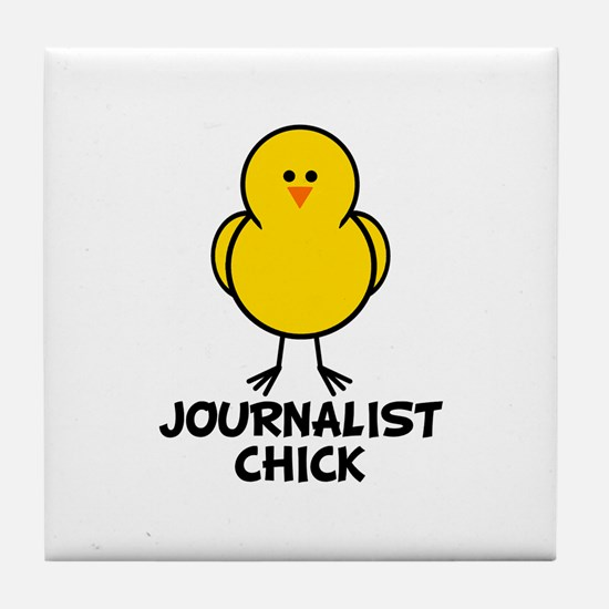 Journalist Chick Tile Coaster