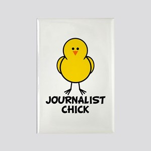 Journalist Chick Rectangle Magnet