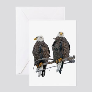 TWIN EAGLES Greeting Card