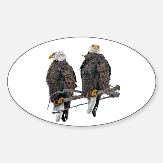TWIN EAGLES Oval Decal