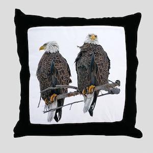 TWIN EAGLES Throw Pillow