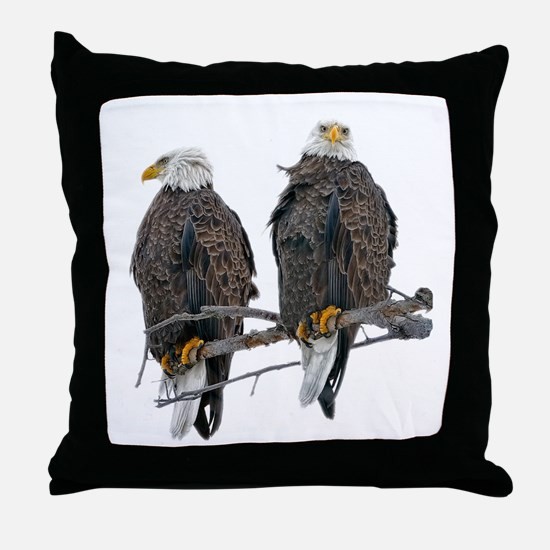 TWIN EAGLES Throw Pillow