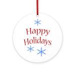 Happy Holidays - Holiday Ornament Round