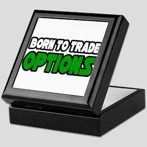 """Born To Trade Options"" Keepsake Box"