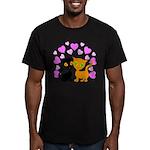 Kitty Cat Love Men's Fitted T-Shirt (dark)