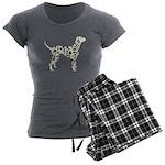 Dalmation Women's Charcoal Pajamas
