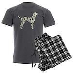 Dalmation Men's Charcoal Pajamas