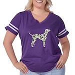 Dalmation Women's Plus Size Football T-Shirt
