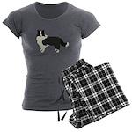 Border Collie Women's Charcoal Pajamas