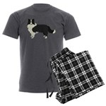 Border Collie Men's Charcoal Pajamas