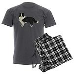 Border Collie Men's Charcoal Pajamas