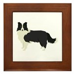 Border Collie Framed Tile