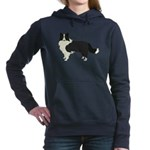 Border Collie Women's Hooded Sweatshirt