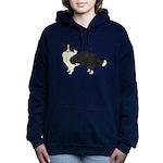 Border Collie Women's Hooded Sweatshirt