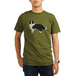 Border Collie Organic Men's T-Shirt (dark)