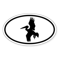 Pelican Oval Oval Decal