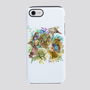 Dinosaur Collage iPhone 7 Tough Case
