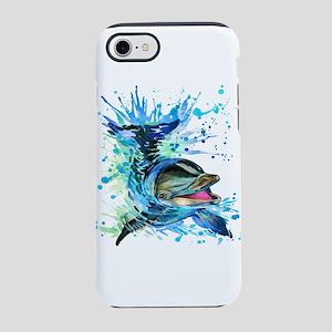 Watercolor Dolphin iPhone 7 Tough Case