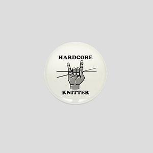 Hardcore Knitter Mini Button